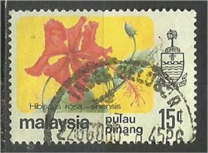 PENANG, 1979, used 15c, Flowers Scott 85