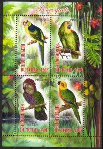 Chad 2013 Birds (4) Parrots MNH Cinderella !