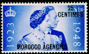 MOROCCO AGENCIES SG176, 25c on 2½d ultramarine, LH MINT.