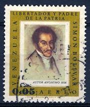 Venezuela 1966; Sc. # C937; O/Used Single Stamp