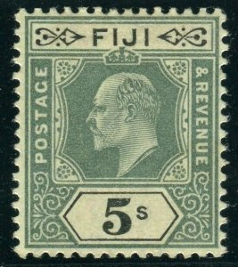 FIJI-1903 5/- Green & Black. A lightly mounted mint example Sg 113