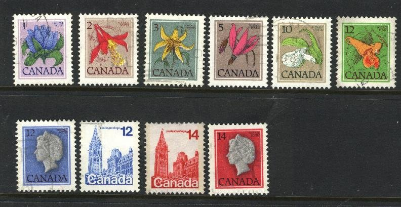 Can #705,707-16   -3   used VF  PD
