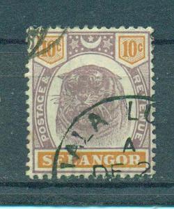 Malaya - Selangor sc# 32 used cat value $2.50