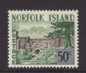 1966 Norfolk Is 50c On 5/- Mounted Mint SG70
