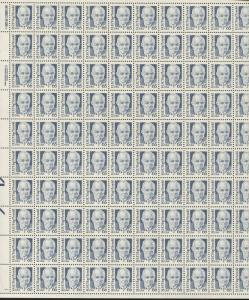 Pane of 100 USA Stamps 2191 Army & Air Force General H.H. Hap Arnold Price $190