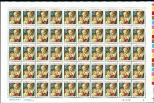 Madonna & Child Sheet of Fifty 25 Cent Postage Stamps Scott 2399
