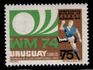 Uruguay Scott 880 Soccer stamp