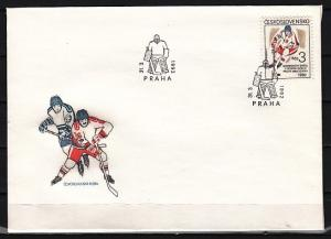 Czechoslovakia, Scott cat. 2853. Ice Hockey issue. First day cover. *