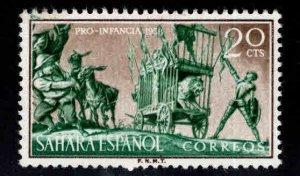 Spanish Sahara Scott 90 MH* Don Quiote stamp