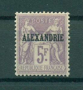 French Offices Egypt Alexandria sc# 15 mh cat val $125.00