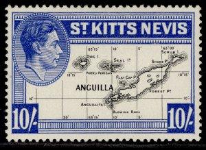 ST KITTS-NEVIS GVI SG77e, 10s black & ultramarine, M MINT. Cat £15.