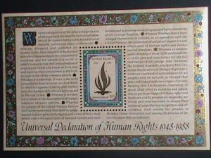 ​United Nation Stamp-1988-SC#545 40th Anniv: Universal Human Rights MNH-S/S