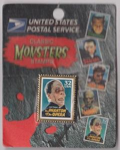 USPS Stamp Pin: Scott #3168 Phantom of the Opera from the Movie Monsters Series
