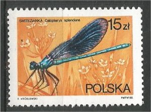 POLAND 1988, MNH 15z. Dragonflies Scott 2842
