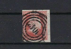 prussia 1860 ½sgr vermilion imperf no wmk used stamp  cat £250+ ref r13426