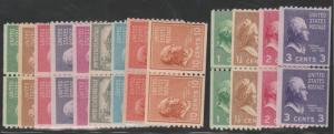 U.S. Scott #839-851 Presidential Stamp - Mint NH Pairs