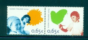 Finland - Sc# 1221. 2004 Childrens Rights. MNH Pair. $6.25.
