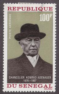 Senegal #C61 MNH Adenauer CV$3 [120492]