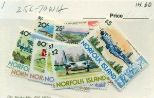 NORFOLK ISLAND #256-70, Mint Never Hinged, Scott $14.60