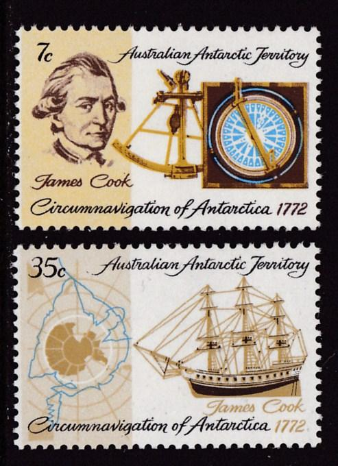 Australian Antarctic Territory 1972 Bicentenary of James Cook's Circumnavigation