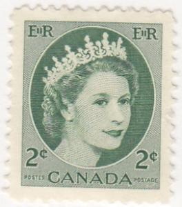 Canada, 338, MNG. 1954, QEII