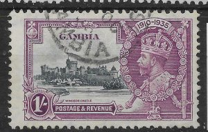 GAMBIA SG146 1935 SILVER JUBILEE 1/= USED