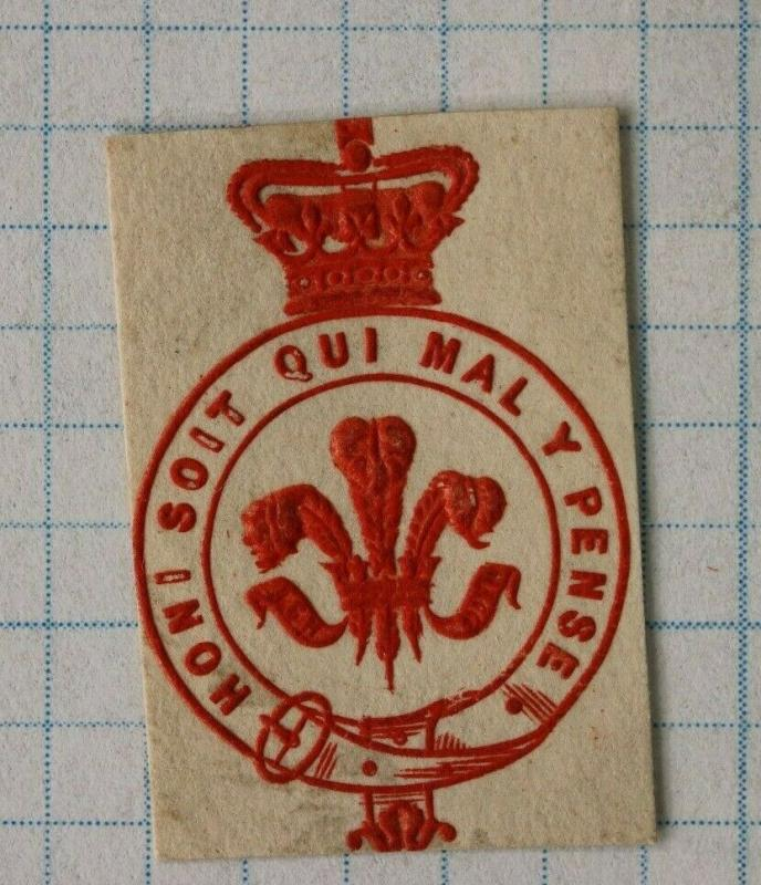 honi soit qui mal y pense crown official postal envelope embossed seal emblem DM