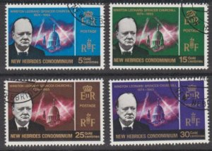 NEW HEBRIDES 1966 Churchill set fine used..................................54813