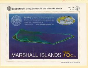 Marshall Isl., N/L,Establishment Government 1979 S/S (1),MNH