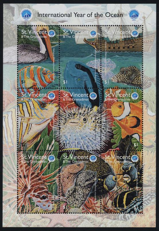 St. Vincent MNH S/S 2604 Marine Life Year Of The Ocean