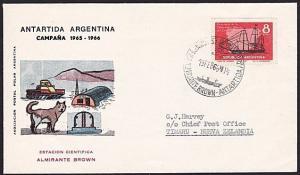 ARGENTINE ANTARCTIC cover 1966.............................................8227