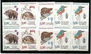 France Scott 2261-4 Mint NH blocks (Catalog Value $25.80)