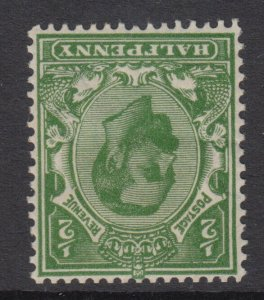 SG 325wi 1/2d Green N2 (1) Die B Wmk Imperial Crown Inv fine,fresh mounted mint.