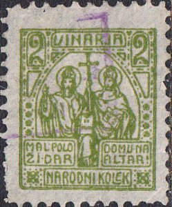 Czechoslovakia - Narodni Kolek  2 Vin  Used