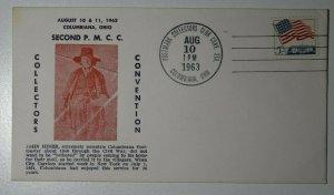 Collectors Conv PMCC Columbiana OH 1963 John Hiner Philatelic Expo Cachet Cover