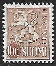 Finland # 457 - Arms of Finland - used .....[Gn4]