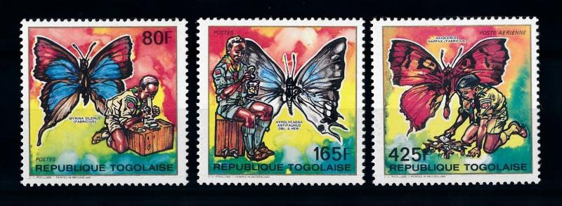 [70635] Togo 1990 Insects Butterflies From Set MNH