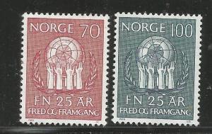 NORWAY, 560-561, H,OLIVE WREATH