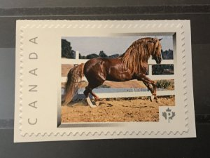 Canada Post Picture Postage Mint NH *Brown Horse* *P* denomination