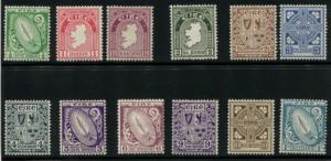 Irland 106-117 Postfrisch Licht mit Scharnier
