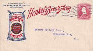 1905, 2c Red Entire W/Detroit, MI Cancel & Machine Cancel, See Remark (BR4068)