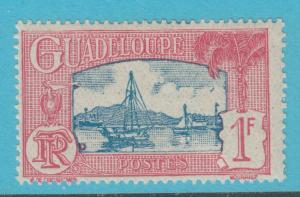 GUADELOUPE 119 MINT HINGED OG *   NO FAULTS  VERY FINE !