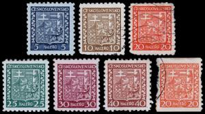 Czechoslovakia Scott 152-157a, 158 (1927-37) Mint/Used H F-VF Complete Set B