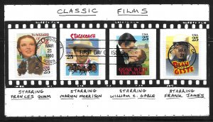 USA 2445-8 Classic Films Jim Smith First Day Cover FDC (z2)