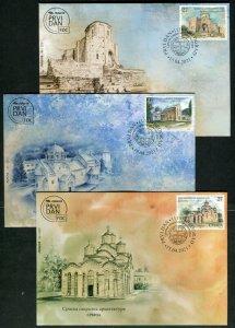 1600 - Serbia 2021 - Serbian Sacral Architecture - Monastery - FDC