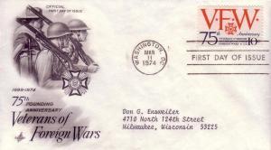 FDC Sc# 1525 Veterans of Foreign Wars Artcraft L951