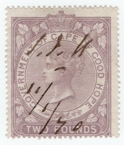 (I.B) Cape of Good Hope Revenue : Stamp Duty £2 (1865)