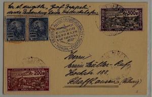 Brazil Zeppelin card 1935