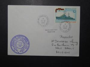 France TAAF 1986 Cover / Russian Cachet & Stamp (I) - Z11099