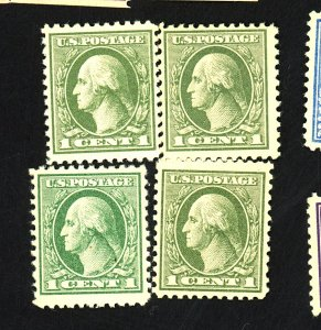 U.S. #525 (4) MINT F-VF OG NH Cat $24